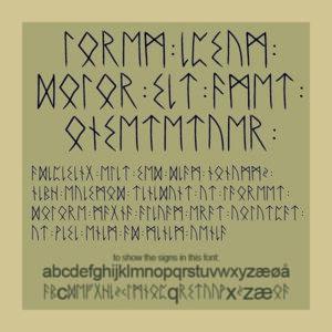 Elder Futhark font - Snorri Debess